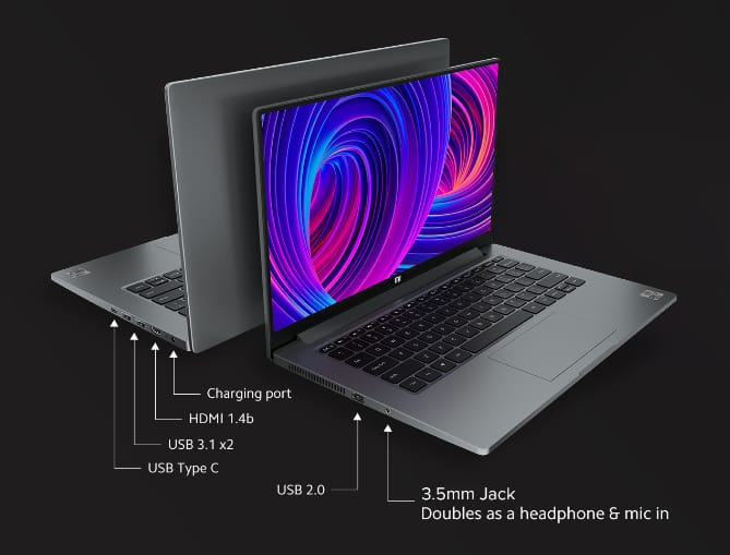 Connectivity and other features Mi Notebook 14 Horizon